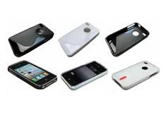 Apple силикон+защит.пленка+сумочка