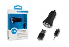 Deppa USB компакт 1,2А+универсальный кабель micro USB