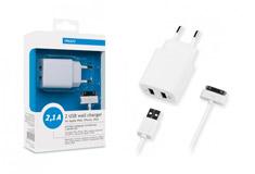 Apple 2 USB, 2,1A + кабель iPhone ?