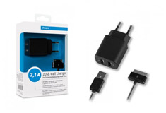 Samsung 2 USB 2,1A + кабель Samsung Galaxy Tab/Note 10.1