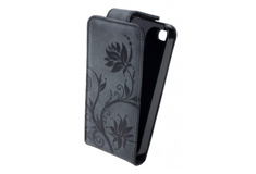 Apple iPhone 5 Lock Флер (кожа черн.)