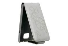 Apple iPhone 5 LOCK БАБОЧКИ (кожа белый)