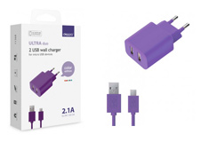 multibrand 2 USB, 2,1А + кабель microUSB (#)