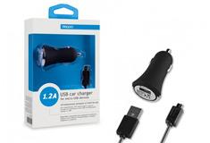 Deppa USB компакт 1,2 А+универсальный кабель micro USB